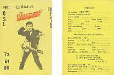 JOHNNY HALLYDAY CARTE club belgique