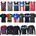 Men Marvel Superhero Avengers Sports Gym Costume T-Shirts Tee Jersey Tops Blouse