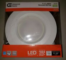 "Commercial Electric 126 878 T65 5 & 6"" White LED Recessed Trim"