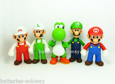 "Lot 5 pcs Super Mario Bros Brothers Mario Luigi Yoshi Toy Action Figures 5"" 13cm"