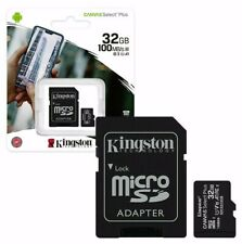 NEW Kingston Micro SD SDHC Memory Card C10 32GB V10 100MB/s With SD Card Adapter