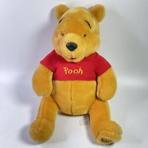 """Winnie Pooh Bear 15"""" Large Stuffed Plush Toy Disney Store Authentic Foot Patch"""