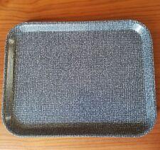 "Vintage Boltabest Tray Grey Weaved Pattern 13.5"" x 10.5"" Brown Underside 247 USA"