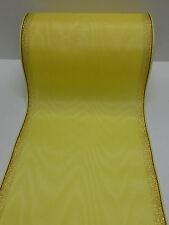 1Rollen Moiré Kranzschleifenband  Kranzband gelb 15 cm mit Rand