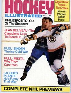 1  -  8 1 1/2 x 11 Hockey Illustrated Nov 1969  full mag  Nice centerfold