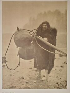 Whaler Makah Neah Bay Pacific Northwest Coast Edward Curtis 1900/72