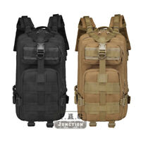 Bug Out Bag Tactical Backpack 34L 3 Day Assault Pack Hiking Army MOLLE Rucksacks