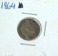 Antique 1864 Indian Head Bronze One Cent Coin PB64