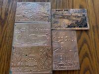 Vintage Lot Kopper Kard Copper Postcards St Louis Union Bagnell Botanical Garden