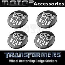 4pcs 60mm Transformers Autobot Wheel Center Caps Emblem Badge Stickers