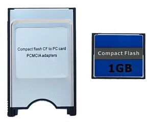 1GB COMPACT FLASH MEMORY CARD & PCMCIA ADPATER TYPE I CF TO PC CARD READER