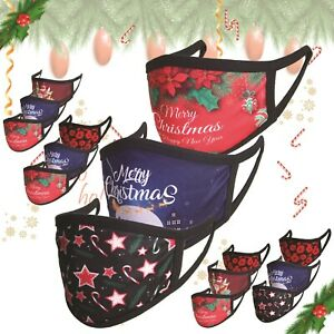 Pack of 3 Christmas Face Mask Reusable Breathable Adult Mouth Protection Cover