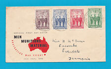 Evandale Tasmania 1940 First Day Cover Men Munitions Material