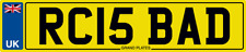 NUMBER PLATE RC INITIALS RC15 BAD REGISTRATION RC IS BAD RICK RYAN RON ROB RJC