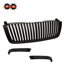Grille Shell w/ Vertical Center Removable Panels For 03-07 Chevy Silverado Black