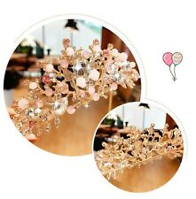 Children Kids Girls Princess Pink Crystal Birthday Tiara Crown Hair Headband