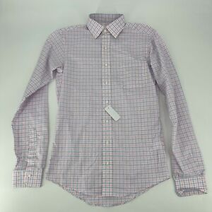 Brooks Brothers Makers Shirt Mens Custom Size 15 Gingham Poplin Button Up NWT