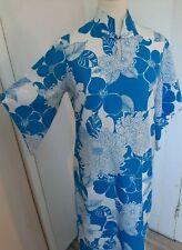 Vintage 60s 70s Hawaiian Holo-Holo Pake Muu Dress Med