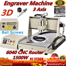 1.5Kw Cnc 6040 Router 3D Engraver 3 Axis Metalworking Milling Carving Machine De