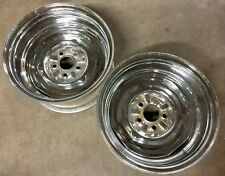 Mopar Vintage Chrome Reverse Wheels Rims A-Body Small Bolt Pattern Dart J14847