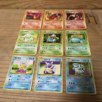 Pokemon card Base Set 9 card Charizard Blastoise Venusaur Holo Rare JAPAN