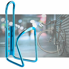 New MTB Bike Cycling Water Drink Bottle Holder Bracket Aluminium Metal Cage Blue