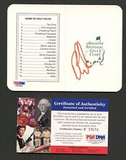 Ben Curtis Signed Augusta National Scorecard PSA/DNA COA AUTO