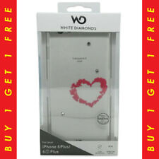 White Diamonds Lipstick Heart Clear Case iPhone 6s Plus 6 Plus -BUY 1 GET 1 FREE
