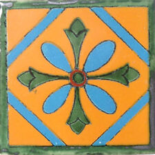 C#012) 9 MEXICAN TILES LOT TALAVERA MEXICO CERAMIC ART CLAY