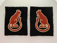 VINTAGE British Army WW2 7th Armoured Division cloth sleeve patches Desert Rats