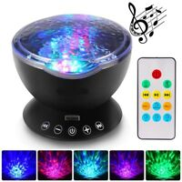 Projector Calming Autism Sensory Toy Music LED Light Relax Blue Night Projection