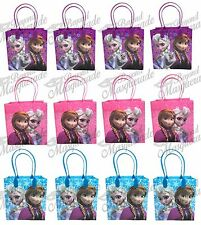 Disney Frozen Anna Elsa & Olaf Party Favor Supplies Goody Loot Gift Bags [12ct]