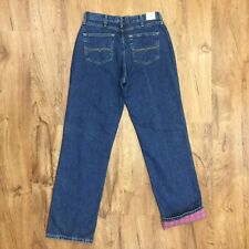 New Wrangler Flannel Lined Blue Jeans 100% Cotton Womens Size 10 x 34