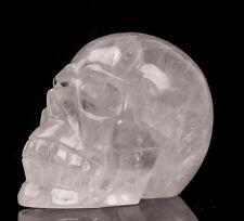 Crâne en cristal de roche de 745 gr , minéraux , lithothérapie ; collection