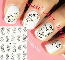 Nail Art Stickers (#Y050 ORO) Decals-Water Transfer Adesivi per Unghie-Manicure!