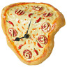 Large Novelty Pizza Melting Clock. Looks like a real Pizza but is also a clock