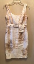 Jones New York Womens Size 6 Cream Rose Print Dress