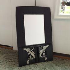Black Wall Mirror Art Nouveau Style Wood Nouveau Studios England