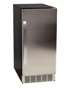 EdgeStar 15 Inch 25 Lbs Capacity 50 Lbs Production Built-In Ice Maker | IB450SSP
