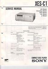 SONY Service Manual Konvolut XES-C1 - B2077