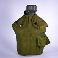 Military Canteen and Case + Belt Clip Survival Camping Hiking Gear