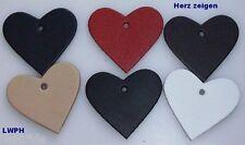 10 Cuero Corazones Grande 6,0 X 5,5cm Regalos y Regalar con Corazón en 6 Colores