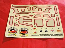 Model Truck Parts Revell 50 Ford Pickup Custom Decal Sheet 1/25