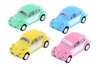 "1:64 4 PASTEL PINK BLUE GREEN VW VOLKSWAGEN 1967 BEETLE KINSMART DIECAST 2.5"""