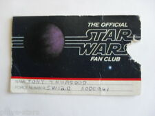 STAR WARS 1977 Fan Club Original Membership Card Low Number Rare