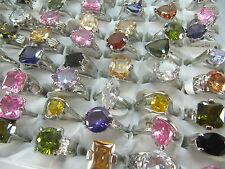 wholesale 20 pcs mix zircon alloy rings party fashion jewellery free post