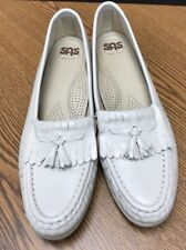 SAS Women's Size 7 Off White Kiltie Tassel Moccasin Comfort Loafers Made in USA