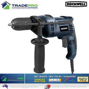 Electric Power Drill 600w Rockwell® 13mm Hammer Keyless Chuck Forward Reverse