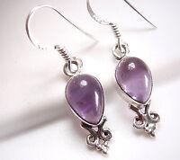 Garnet Sterling Silver Dangle Earrings Infinity Hoop Declares Forever Love New