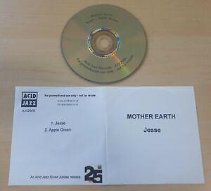MOTHER EARTH Jesse 2012 UK Acid Jazz 2-track promo test CD Matt Deighton